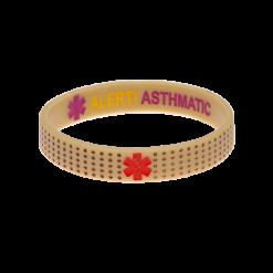 Asthma Bracelet Beige Reversible