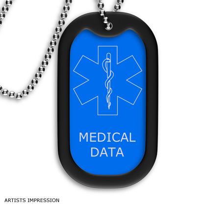 Blue Medical Dog Tag