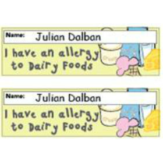 Dairy Allergy Small Label Large