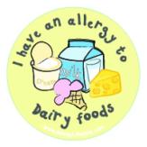 Dairy Allergy Sticker AllergyLifestyle