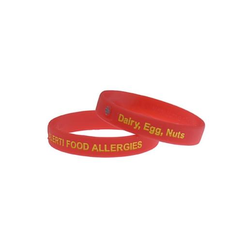 dairy, egg and nut allergy bracelet