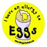 Egg Allergy Sticker AllergyLifestyle