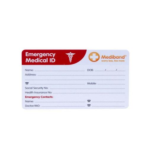 medical alert card