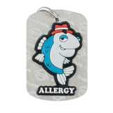 Fish Allergy Dog Tag Anaphylaxis Large