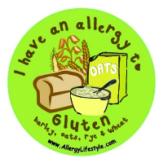 Gluten Allergy Sticker AllergyLifestyle