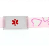 Kids Medical Bracelet Pink Heart full size