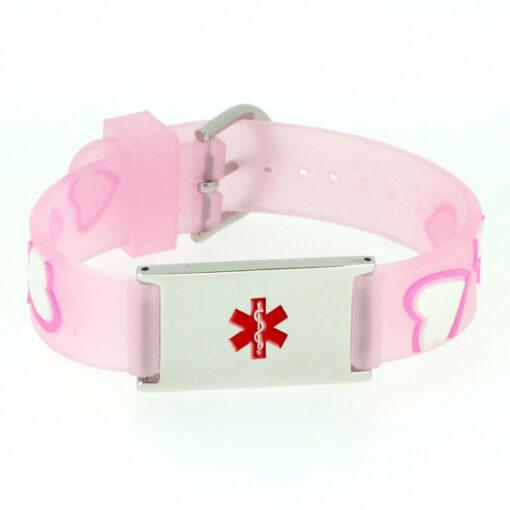 Kids Medical Bracelet - Pink Heart