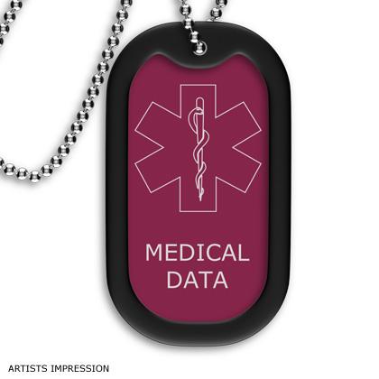 Pink Medical ID Tag