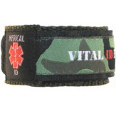 Med ID Green Camo Wristband