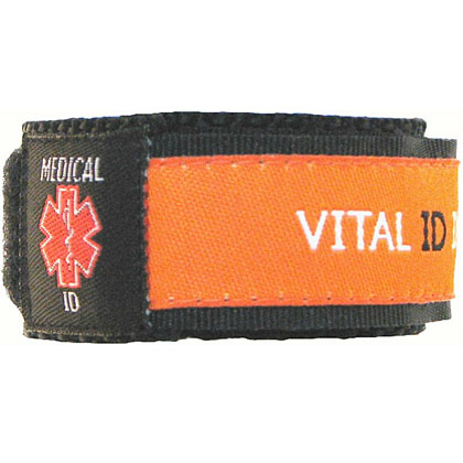Medical ID Orange Wristband