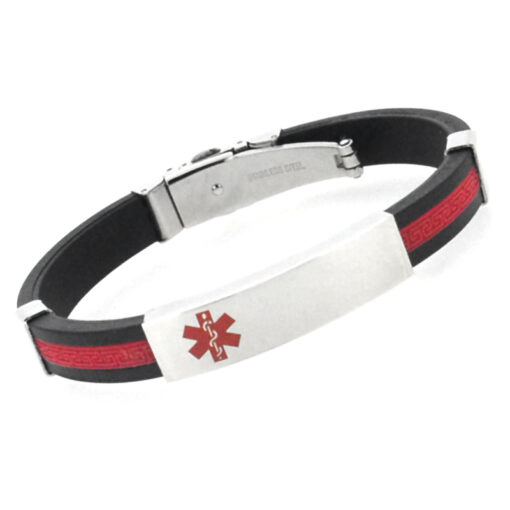 Stylish Sports Engraved Medical Alert Bracelets