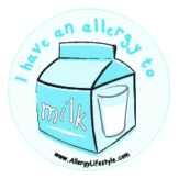Milk Allergy Sticker Large Allergy Lifestyle