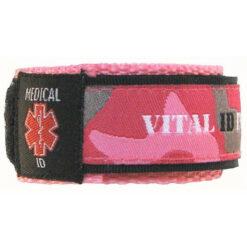 Pink Camo Medical ID Wristband