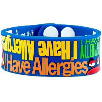 Write on Kids I Have Allergies Wristband