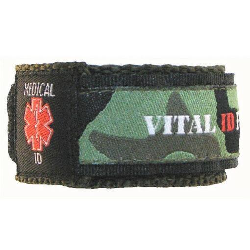 allergy id bracelet - green camo