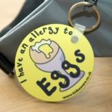 Egg Allergy Keyring