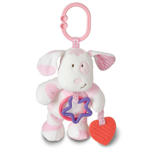 asthma and allergy friendly toys puppy in white and barbie pink