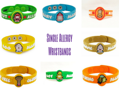 Single Allergy Wristbands