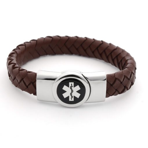 Leather Medical ID Bracelets
