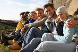 Teenagers with food allergy