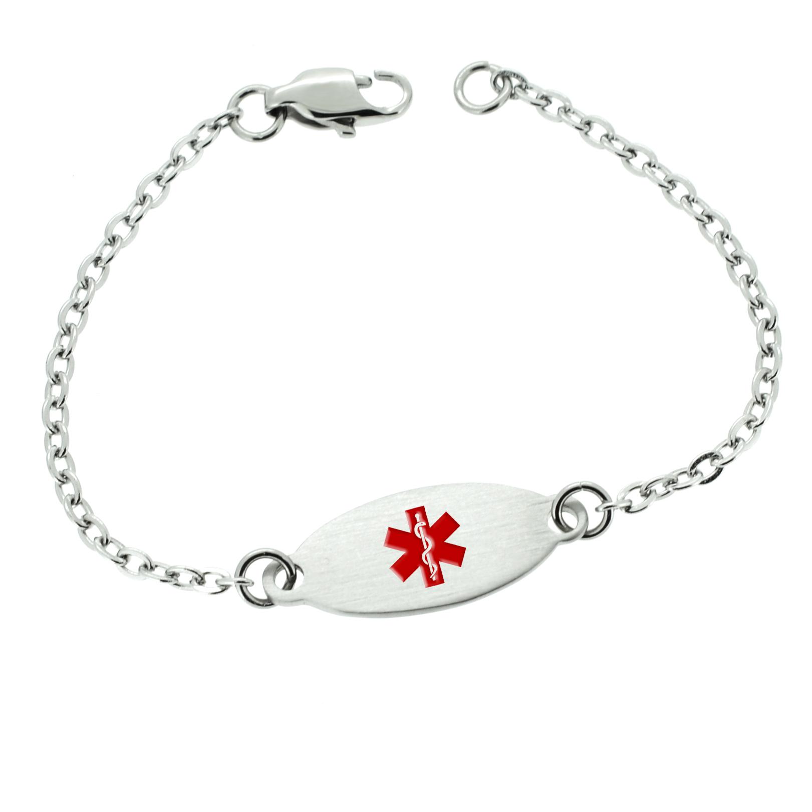 Medical Alert Bracelets >> Womens Medical Alert Bracelet Allergy Alert Bracelet Medical Id