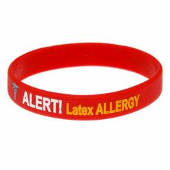 Latex Allergy medical alert bracelet