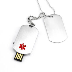 Medical Alert USB Dog tags