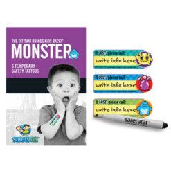 SafetyTat Kids Safety Tattoos - Monster Mash Pack