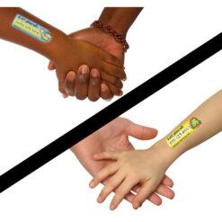 SafetyTat Tattoos on Arms