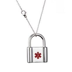 Padlock Medical ID Necklace