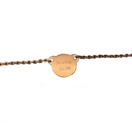 Nut Allergy Light Chain Bracelet