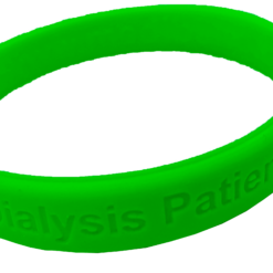 Green dialysis alert wristband