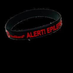 Black epilepsy alert wristband