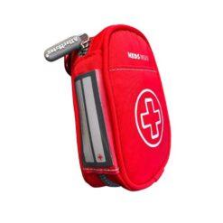 red asthma inhaler case