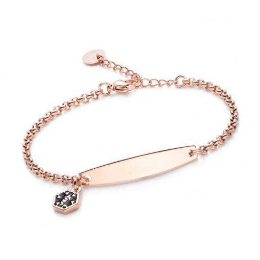 Rolo-Chain-Rose-Gold-Medical-ID-Bracelet