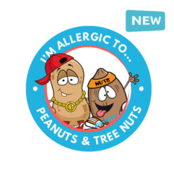peanut and tree nut allergy stickers