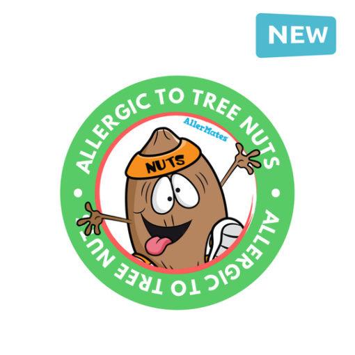 Tree Nut allergy Stickers