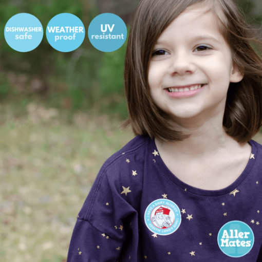 dairy allergy sticker