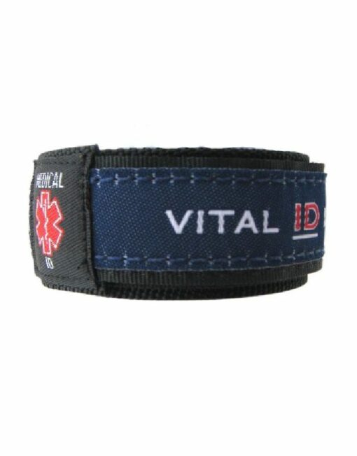 Medical ID Wristband - Navy Blue